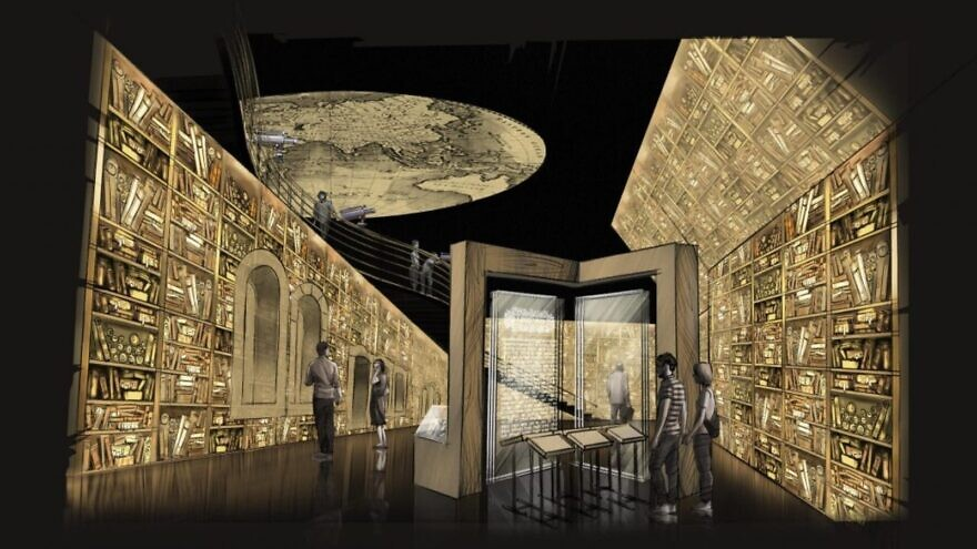 Concept for a room in the Beit HaKehillot Jewish heritage museum in Jerusalem. Illustration: courtesy of BJA Associates.