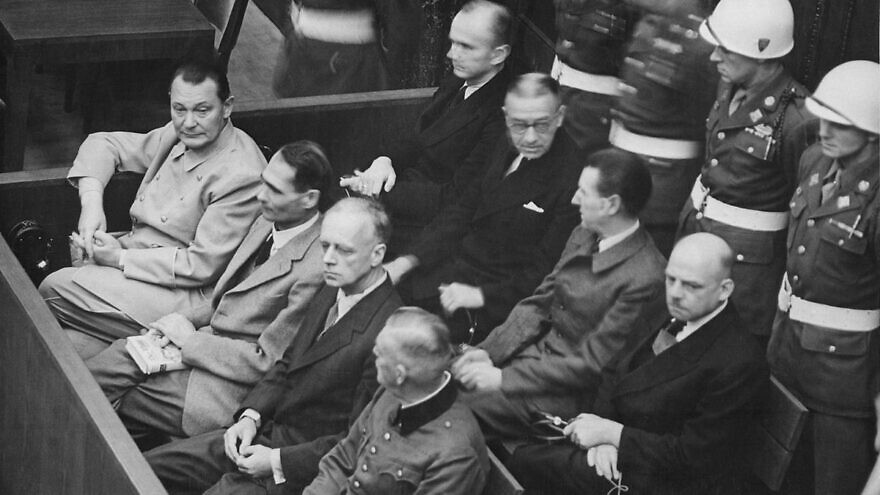 A view of proceeding at the Nuremberg trials. Credit: Wikimedia Commons.