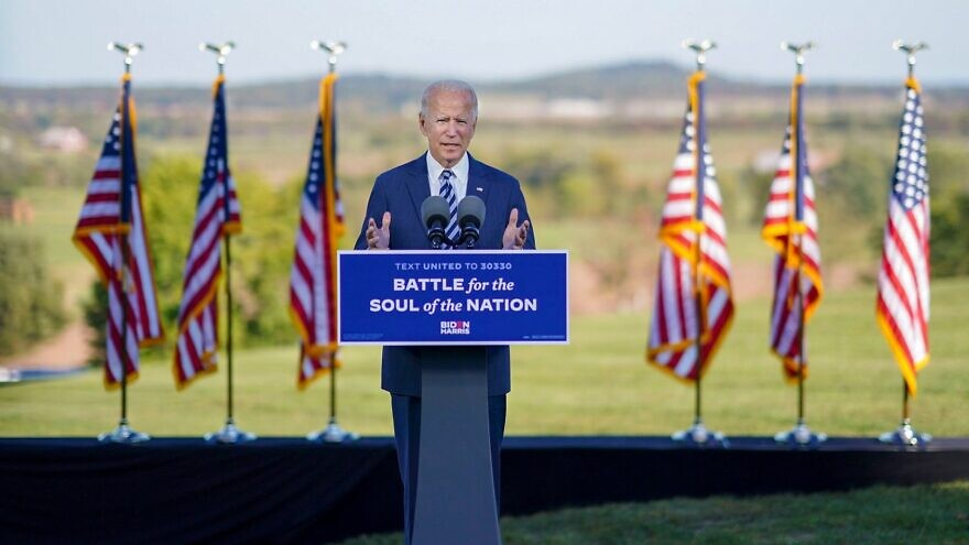 President-elect Joe Biden speaking in Gettysburg, Pa., on Oct. 7, 2020. Source: Joe Biden/Facebook.