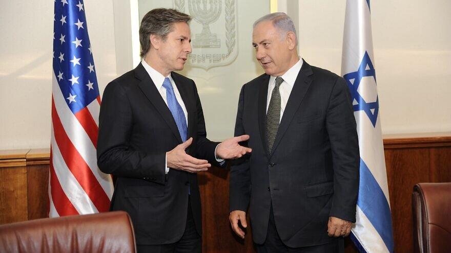 Then-U.S. Deputy Secretary of State Antony Blinken meets with Israeli Prime Minister Benjamin Netanyahu at the Prime Minister's Office in Jerusalem on June 16, 2016. Credit: David Azagury/U.S. Embassy Tel Aviv.