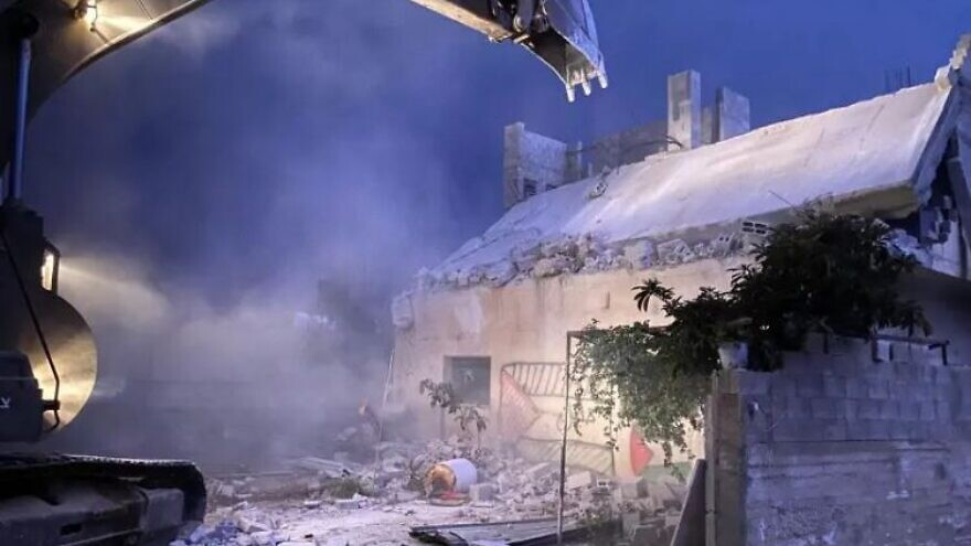 IDF forces destroy the home of Palestinian terrorist and murderer Khalil Dweikat in Rujeib in northern Judea and Samaria on Nov. 1, 2020. Credit: IDF Spokesperson's Unit.