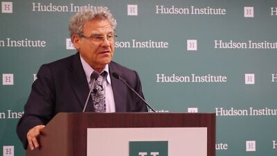 Efraim Inbar, director of Bar-Ilan University's Begin-Sadat Center for Strategic Studies, attends a discussion hosted by the Hudson Institute and the Rabin Chair Forum on the Joint Comprehensive Plan of Action nuclear deal with Iran, on May 26, 2015. Credit: Hudson Institute via Wikimedia Commons.