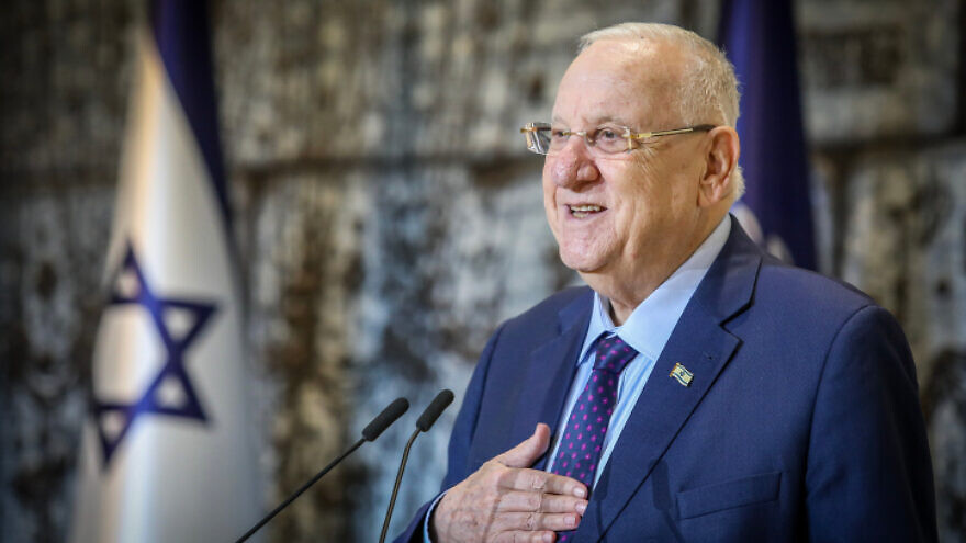 Israeli President Reuven Rivlin speaks during a press conference on Feb. 16, 2020. Photo by Flash90.