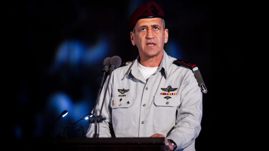 IDF Chief of Staff Lt. Gen. Aviv Kochavi at a graduation ceremony of naval officers of the Israeli Navy in Haifa Naval Base, Northern Israel on March 4, 2020. Photo by Flash90