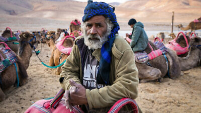Bedouins in the Negev Desert near Arad in southern Israel on Feb. 20, 2020. Photo by Anat Hermony/Flash90.