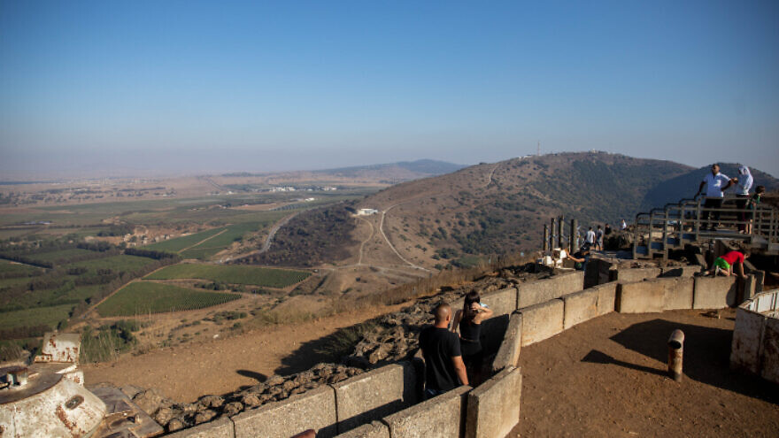 The view on Mount Bental overlooking the border with Syria in the Golan Heights, Aug. 22, 2020. Photo by Yonatan Sindel/Flash90.