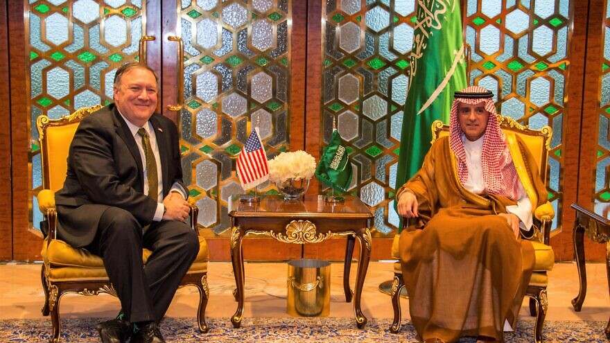 U.S. Secretary of State Mike Pompeo meets with Saudi Foreign Minister Adel Al-Jubeir, in Riyadh, Saudi Arabia, April 28, 2018. Credit: U.S. State Department.