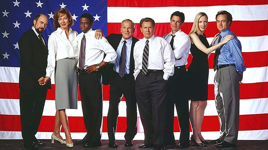 "The cast of Aaron Sorkin's ""The West Wing."" Credit: Courtesy."