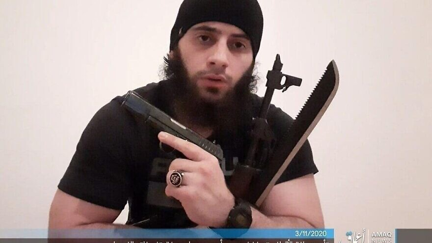 A photo of the main suspect in the deadly terror attack in Vienna on Nov. 2, 2020, released by the Islamic State terror group via its Amaq News Agency on Nov. 3, 2020. Credit: Amaq News Agency.