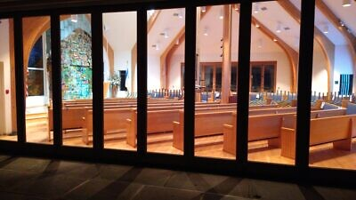 "The Hampton Synagogue participates in March of the Living's ""Let There Be Light"" the evening of Nov. 9, 2020"