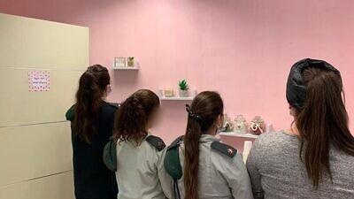 The new breastfeeding room of IDF Unit 9900. Credit: IDF Spokesperson's Unit.