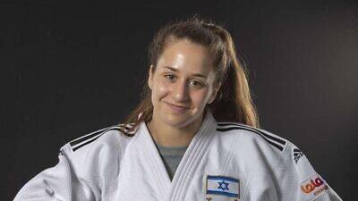 Israeli judoka Inbar Lanir. Credit: Israel Judo Association.