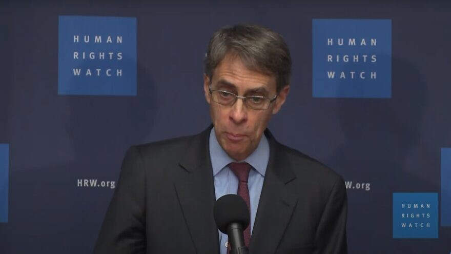 Human Rights Watch executive director Kenneth Roth. Source: Screenshot.