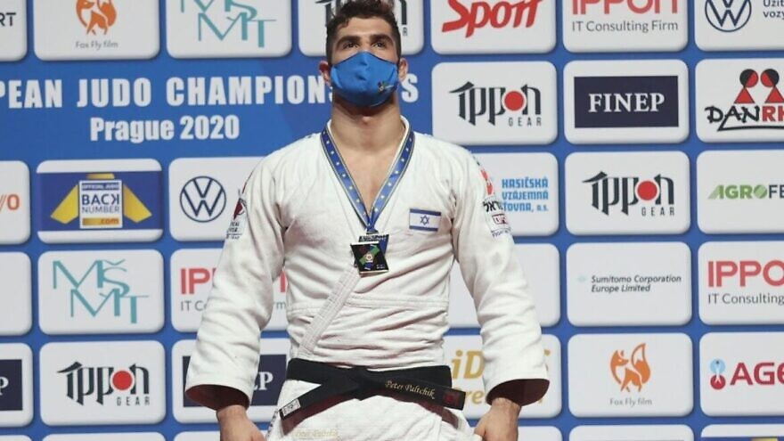 Israeli judoka Peter Paltchik was crowned European Judo Champion. Nov. 21, 2020. Source: Facebook.