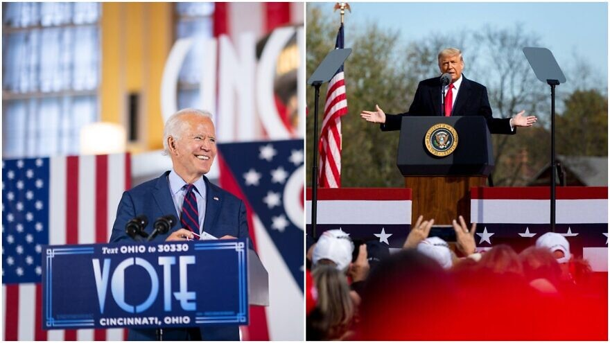 Former U.S. Vice President and Democratic presidential candidate Joe Biden and U.S. President Donald Trump on the campaign trail. Source: Trump campaign via Facebook/Biden Campaign via Facebook.