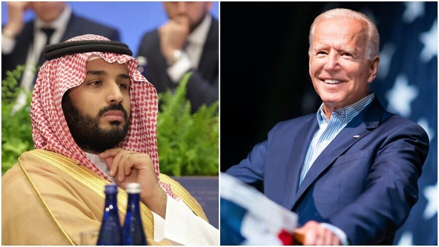 Left: Crown Prince Mohammad Bin Salman of Saudi Arabia. Right: President-elect Joe Biden. Source: U.S. State Department/Joe Biden via Facebook.