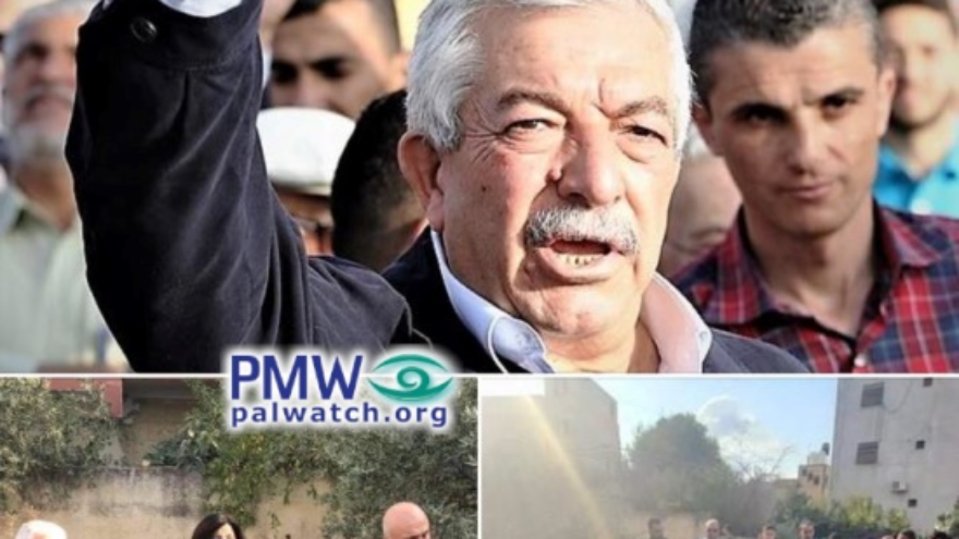"Fatah deputy chairman Mahmoud Al-Aloul: ""There is no home that the occupation has destroyed and we have not rebuilt. We will rebuild the home of prisoner Khalil Dweikat in the village of Rujeib."" Source: Fatah Facebook page, Nov. 2, 2020, PMW."