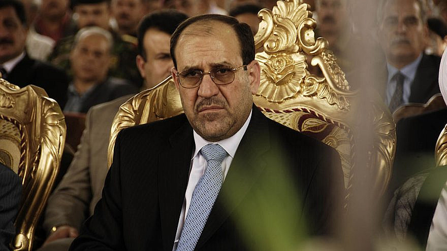 Iraqi Prime Minister Nuri al-Maliki listens to an opening speech during the Sarafiya bridge opening in Kadhimiya, Iraq, May 27, 2008. Credit: Staff Sgt. Jessica J. Wilkes/U.S. Air Force via Wikimedia Commons.