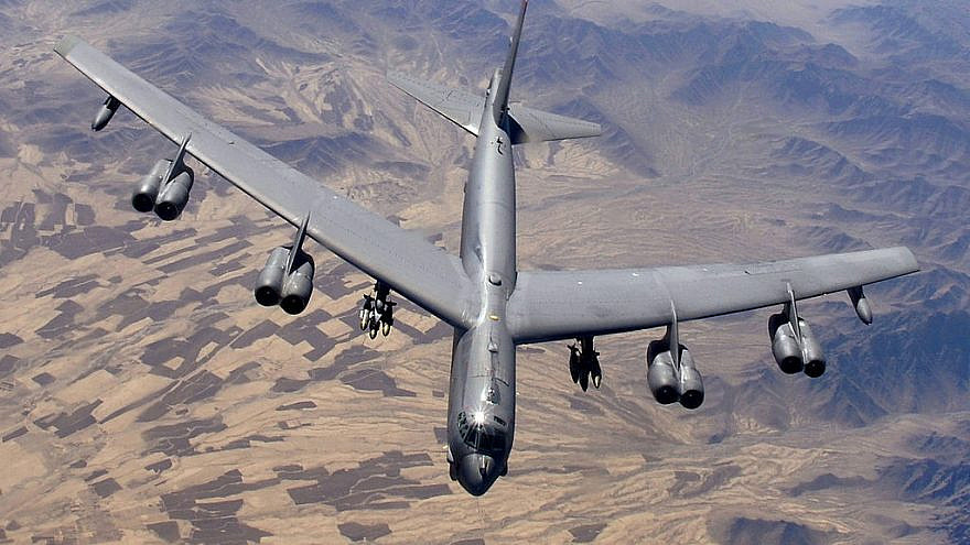 A B-52 Stratofortress prepares for refueling over Afghanistan during an air-support mission. Credit: Master Sgt. Lance Cheung/U.S. Air Force via Wikimedia Commons.