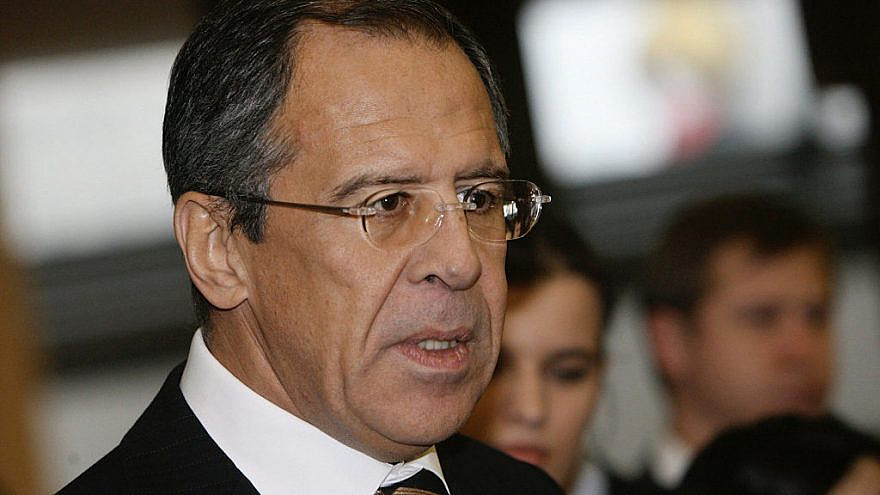 Russian Foreign Minister Sergei Lavrov at opening a global forum on partnerships between governments and businesses to counter terrorism as part of the Group of Eight (G8) summit, July 15-17, 2006. Credit: Russian Presidential Press and Information Office via Wikimedia Commons.