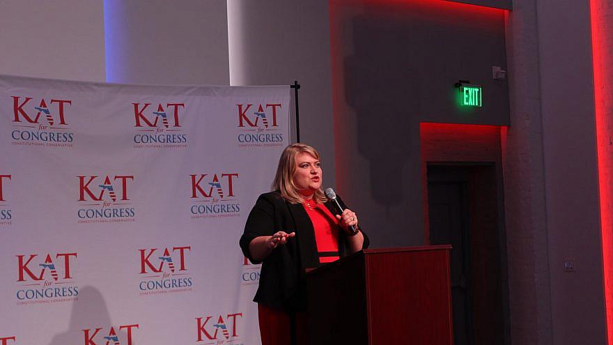 Kat Cammack during a campaign event. Source: Kat Cammack/Facebook.