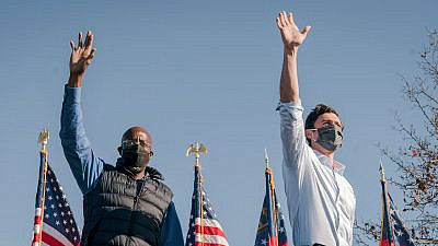 Democratic candidates for U.S. Senate in Georgia Raphael Warnock (left) and Jon Ossoff. Source: Facebook/Jon Ossoff.