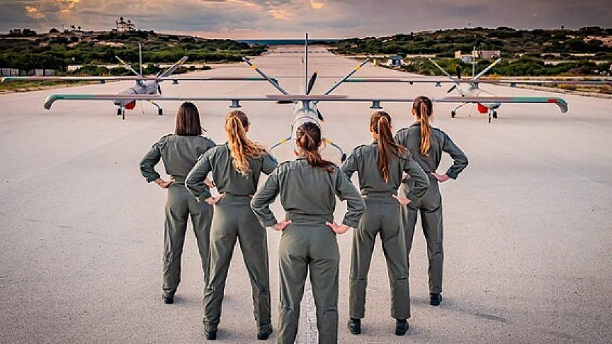 The IAF's five new women UAV operators, Dec. 9, 2020. Credit: IDF Spokesperson's Unit.