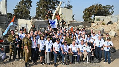 The FIDF National Mission participants visited the IDF Zikim Search and Rescue unit in November 2019. Source: FIDF/Facebook.