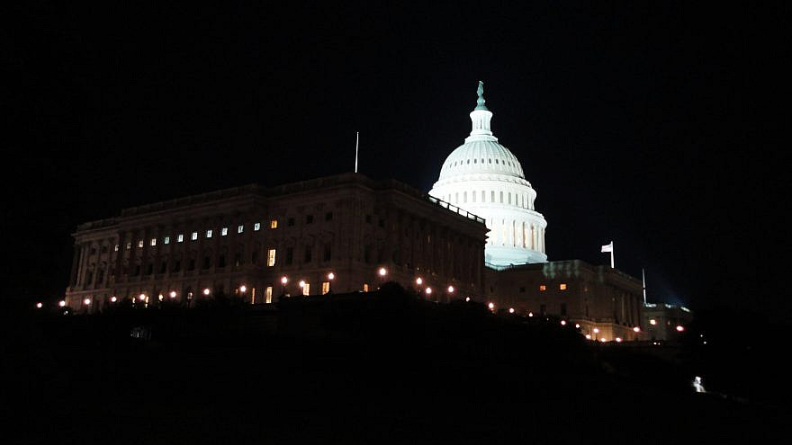 A view of Capitol Hill at night. Credit: Wikimedia Commons/M. Fitzsimmons.