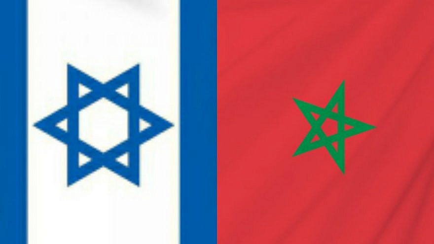 The flags of Israel and Morocco. Source: Gabi Ashkenazi/Twitter.