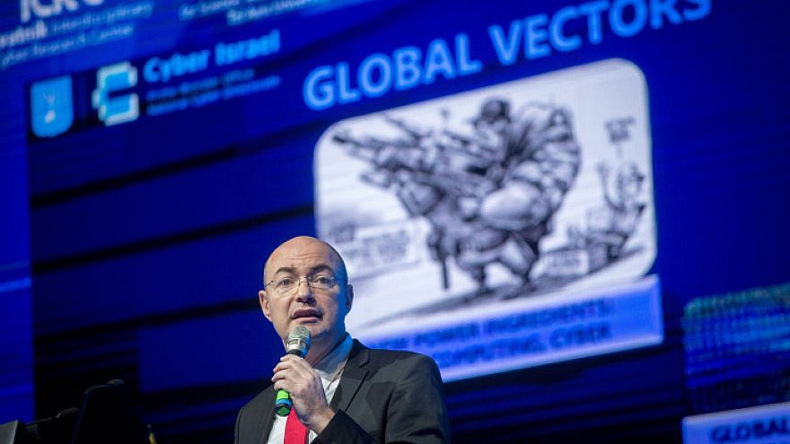 Yigal Unna, director general of the Israel National Cyber Directorate, speaks at the CyberWeek conference at Tel Aviv university, on June 20, 2018. Photo by Miriam Alster/Flash90.