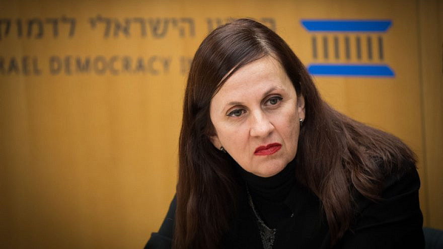 Dina Zilber, deputy legal councillor to the government, in Jerusalem on Nov. 21, 2018. Photo by Yonatan Sindel/Flash90.