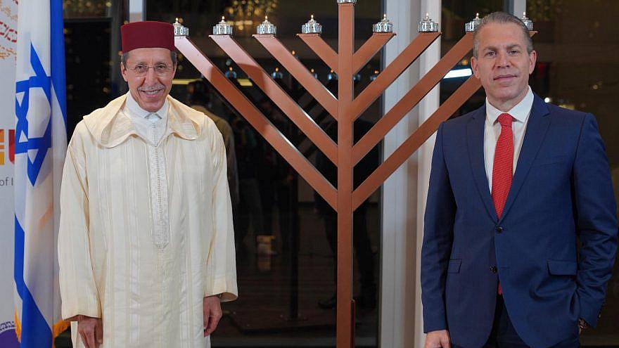 Israeli Ambassador to the United Nations Gilad Erdan and Moroccan Ambassador to the United Nations Omar Hilale. Credit: Ido Siman-Tov.
