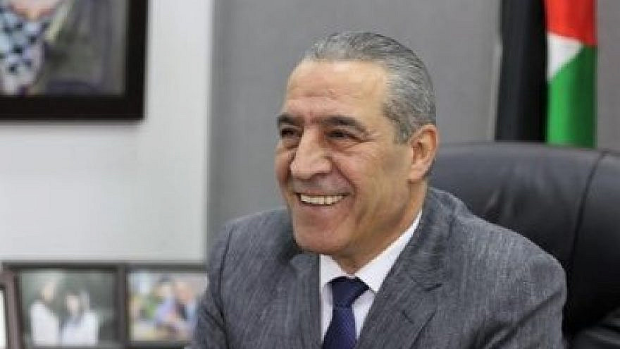 Hussein Al-Sheikh, head of the General Authority of Civil Affairs in the Palestinian Authority. Source: Twitter.