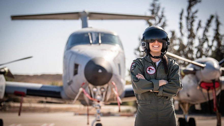 Boston native Lt. O, the first American woman to complete the Israel Air Force's pilot course. Credit: IAF.