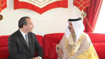 Rabbi Marc Schneier with King Hamad Bin Isa Al Khalifa of Bahrain on an earlier trip to the Kingdom