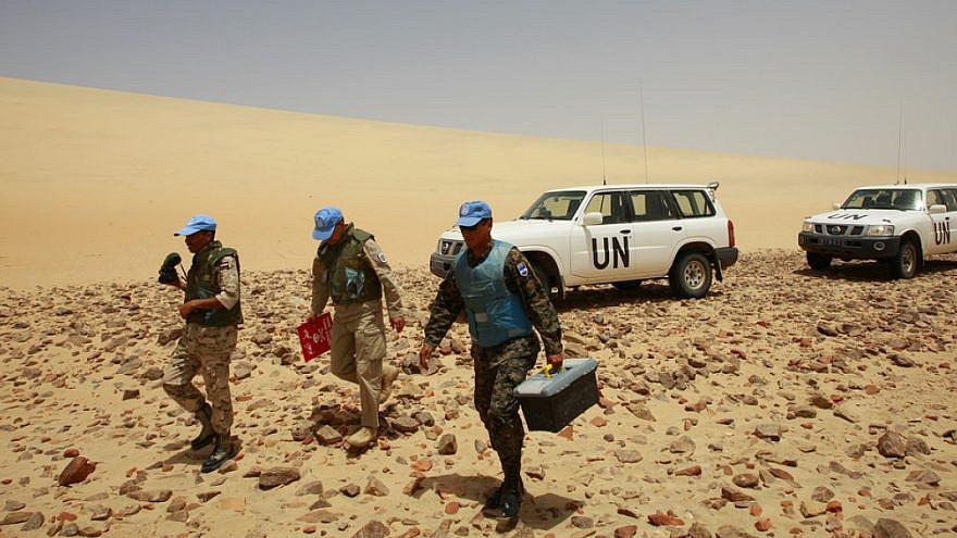 U.N. peacekeepers in the Western Sahara. Credit: U.N. Photo/Martine Perret.