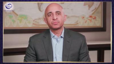 United Arab Emirates Ambassador to the United States Yousef Al Otaiba speaks at the Iranian American Jewish Federation's 2020 virtual gala on Dec. 6, 2020. Source: Screenshot.