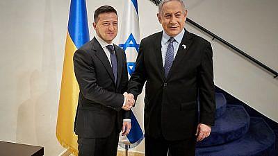 Ukrainian President Vladimir Zelensky and Israeli Prime Minister Netanyahu in Israel, Jan. 24, 2020. Credit: Wikimedia Commons.