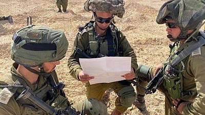 The IDF Tactical Command College's activities include building mental resilience, leadership, command-and-control abilities and teaching in-depth combat doctrines. Credit: IDF Spokesperson's Unit.
