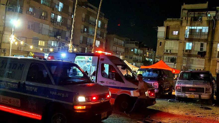 A United Hatzalah COVID-19 testing station was destroyed by extremists in Bnei Brak on Dec. 21, 2020. Credit: United Hatzalah.