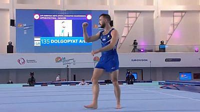 Israeli gymnast Artem Dolgopyat at the European Championships on Dec. 13, 2020. Source: YouTube.