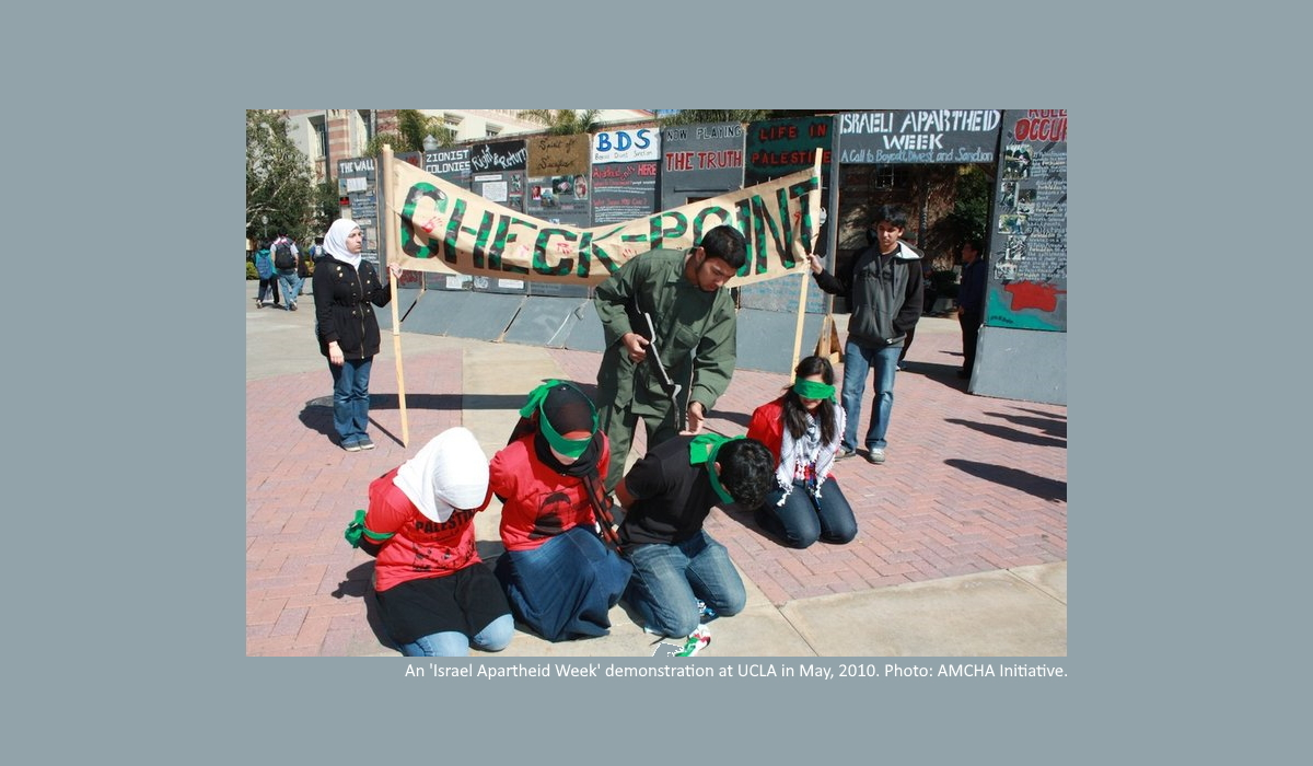 'Israel Apartheid Week' at UCLA. Credit: AMCHA Initiative.