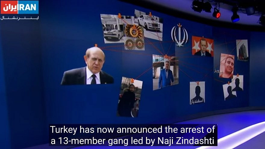 """""""Iran International,"""" based in London and Saudi-funded, announcing Turkey's arrest of members of a narco-terrorist gang on Dec. 14, 2020. Source: Screenshot."""
