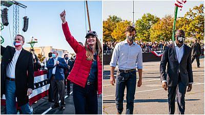 Republican Sens. David Perdue and Kelly Loeffler. Democrats Raphael Warnock and Jon Ossoff. Source: Facebook.