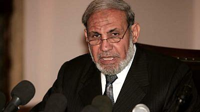 Senior Hamas official Mahmoud al-Zahar, March 25, 2016. Credit: Wikimedia Commons.