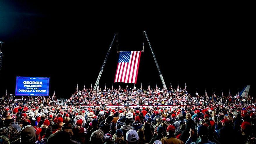 U.S. President Donald Trump holding a rally in Georgia in Dec. 2020. Source: Facebook/Donald Trump.