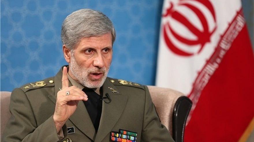 Iranian Defense Minister Gen. Amir Hatami. Credit: Wikipedia.