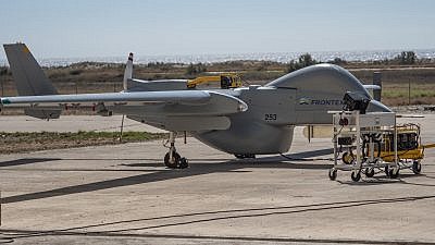 Israel Aerospace Industries' Maritime Heron UAV, which will patrol southern Europe for border security. Credit: IAI.