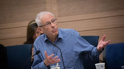Benny Begin during a Foreign Affairs and Security Committee at the Knesset on April 30, 2018. Photo by Miriam Alster/Flash90.